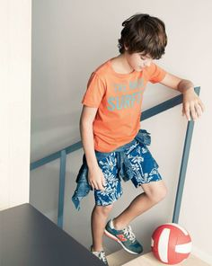 J.Crew boys' tee in mad surfer vintage jersey and Industry of All nations for Crewcuts Batik short.