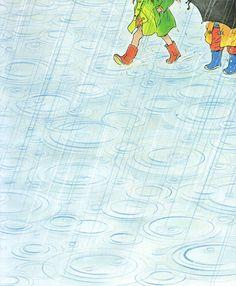 """Peter Spier's Rain"" by Peter Spier ~ Doubleday, 1982"