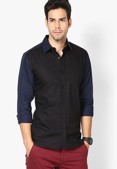 5a5bc17575d Black Coffee Black Regular Fit Shirt - Men s Formal Shirts - Farah Oxford  Shirt with Black Weft Slim Fit In Coal Red Tape Half Sleeves Black Solid