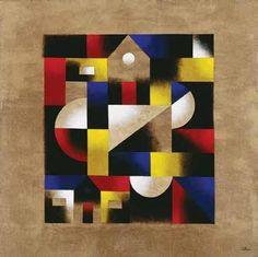 Autor: Rudy Cotton // Guatemala // Geometría Il // Acrílico / tela