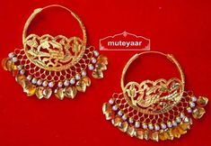 Indian Gold Jewelry Near Me Code: 2167413817 Jewelry Design Earrings, Gold Earrings Designs, Gold Jewellery Design, Gold Wedding Jewelry, Silver Jewelry, Silver Ring, Bridal Jewellery, Indian Jewelry, Silver Earrings