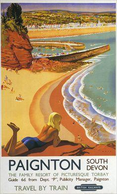 Paignton - Vintage Travel Poster - British Railways