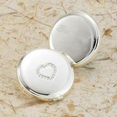 Engraved Sweetheart Silver Plated Compact - Keepsake Gifts. $13.74 #affiliate