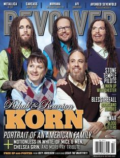 KORN Featured On The Cover Of October/November Issue Of REVOLVER; New Album–'The Paradigm Shift'–Out October 8 http://buff.ly/1eVeN8f