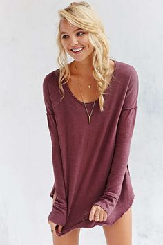 Truly Madly Deeply Inside-Out Long-Sleeve Top - Urban Outfitters