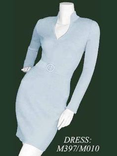 Face the judges with confidence in this elegant Queen Anne collared pageant interview dress Michael St George M397/M010. Its long sleeves will make you look very chic, while the fitted skirt is 19� waist-to-hem. Optional matching belt with Swarovski �Crystallized� buckle cinches the natural waist. Fiber content is 75% virgin wool and 25% rayon. Please allow 4 weeks for production. Available in more than 20 fabulous colors.