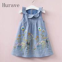 Cheap girls clothes, Buy Quality kids dress directly from China clothes kids Suppliers: Hurave 2017 girls clothes kids dress embroidery children summer peter pan collar sleeveless print dress flower vestidos Dresses Kids Girl, Cute Dresses, Cute Baby Clothes, Doll Clothes, Summer Clothes, Baby Outfits, Kids Outfits, Sewing Dress, Girl Dress Patterns