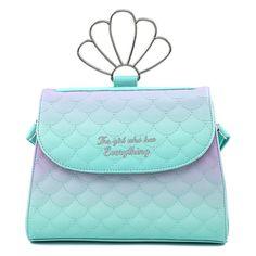 Mermaid Disney, Disney Little Mermaids, The Little Mermaid, Disney Purse, Disney Handbags, Leather Crossbody, Crossbody Bag, Retro Gifts, Bag Making
