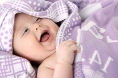 personalisierte Babydecke mit Namen, Bio-Baumwolle von Baby-Kuscheldecke auf DaWanda.com