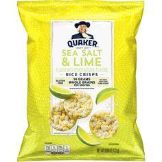 Quaker Rice Crisps, Sea Salt & Lime, oz Bag (Packaging May Vary) - Food Fruit Packaging, Bag Packaging, Whole Grain Brown Rice, Rice Crisps, Rice Snacks, Flavored Rice, Milk Ingredients, Chocolate Crunch, Convenience Store