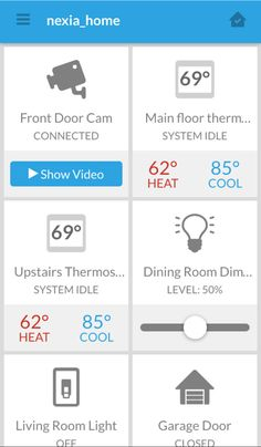 Nexia is a smart home automation system that integrates all of your smart devices into a single all-in-one app, making your life easier by giving you a better way to do everyday things.