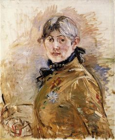Berthe Morisot (1841-95) • Autoportrait, 1885