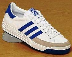 """Les """"Nastase"""" Baskets ADIDAS.  Ma 1er paire de marque Adidas Vintage, Vintage Shoes Men, Vintage Outfits, Vintage Sneakers, Adidas Tubular Nova, Baskets Adidas, Gents Fashion, School Shoes, Mode Vintage"""