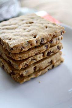 Espresso chocolate chip shortbread cookies.