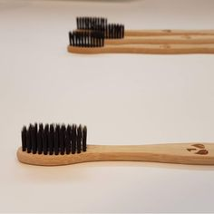 Natural Bamboo Toothbrush Individually Numbered, Charcoal BPA Free Bristles, Pack of 4