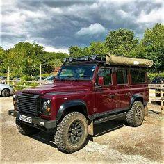 LAND/ROVER. DEFENDER 110 Station-Wagon. Defender Camper, Land Rover Defender 110, Off Road, Station Wagon, Classic Trucks, 4x4, Monster Trucks, Vehicles, Land Rovers