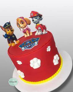 Torta Patrulla Caninca - Paw Patrol Cake by Giovanna Carrillo Baby Boy Cakes, Cakes For Boys, Torta Paw Patrol, Cake Designs For Boy, Paw Patrol Birthday Cake, Sister Birthday, 4th Birthday Parties, Cupcakes, Cake Decorating