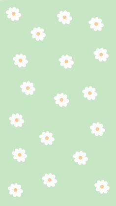 Phone Wallpaper Boho, Iphone Wallpaper Green, Sage Green Wallpaper, Daisy Wallpaper, Minimal Wallpaper, Aesthetic Pastel Wallpaper, Aesthetic Wallpapers, Colorfull Wallpaper, Cute Patterns Wallpaper