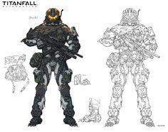 ArtStation - Assault, Titanfall fanart, Woo Kim