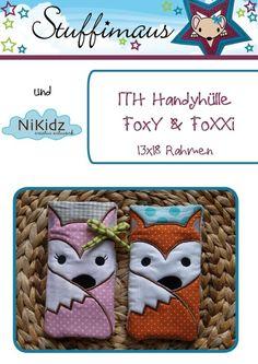 ITH Handyhülle FoxY & FoXXi 13x18  Stickdatei