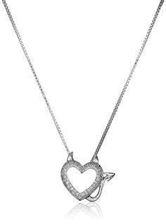 941215fbcd9d Sterling Silver and Diamond Devil Heart Pendant Necklace     Want to know  more
