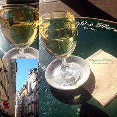 Saint-Germain-des-Prés #cafedeflore #appero Saint Germain, White Wine, Alcoholic Drinks, Instagram, Glass, Paris, Alcoholic Beverages, Drinkware, White Wines
