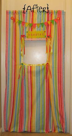 no-sew doorway puppet theater