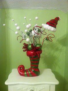 RAZ Christmas Centerpiece by RedWithEnvyDesigns on Etsy, $85.00