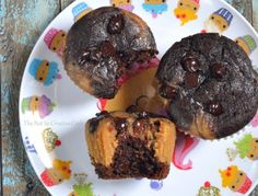 Cookie Butter Filled Chocolate Muffins - The Not So Creative Cook Carrots And Dates, French Apple Cake, Date Cake, Food Videos, Cake Videos, Chocolate Muffins, So Creative, Yummy Treats, Homemade
