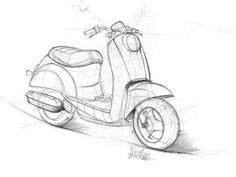 motorcycle sketches by Sen Heng at Coroflot.com