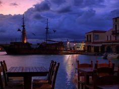 The Venetian port in Chania