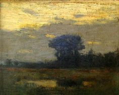 Charles Warren Eaton, Sunset Glow, 8 x 10 oil on canvas