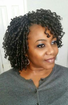 70 Crochet Braids Hairstyles and Pictures - Part 8 Crochet braids have become a huge trend in the past few years. Take a look at these 70 inspiring and super trendy crochet braids hairstyles! SEE DETAILS. Curly Crochet Braids, Curly Crochet Hair Styles, Crochets Braids, Curly Hair Styles, Natural Hair Styles, Short Crochet Braid Styles, Natural Braids, Wedge Hairstyles, Funky Hairstyles