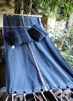 Hammock made with typical Guatemalan fabric