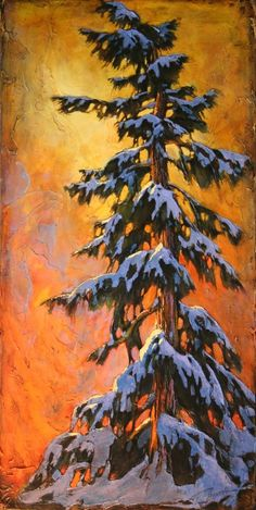 45 Easy and Beautiful Canvas Painting Ideas for Beginners to Try Landscape Art, Landscape Paintings, Tree Paintings, Landscapes, Beginner Painting, Acrylic Art, Tree Art, Painting Inspiration, Painting & Drawing