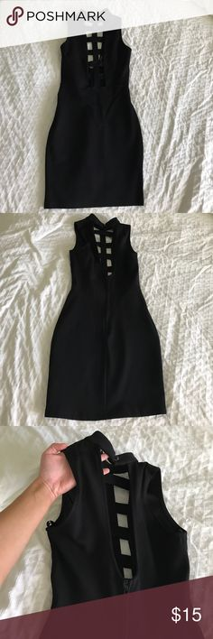 Sexy Black Dress - cut out in front/deep cut back Sexy Black Dress - cut out in front and deep cut back Dresses Mini