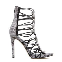 Snake Print Caged in High Heel...Yes!  Jaffie - ShoeDazzle