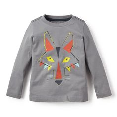 Unisex Toddler Tribal Wolf Howl Cute T-Shirt Summer Clothes for 2-6 Years Old