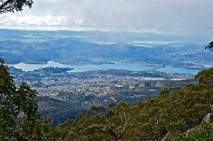 View of Hobart from Mt Wellington - Tasmania - Australia - And then we had to ride down the mountain!!