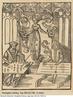 Reisch, Gregor, -1525. Margarita philosophica, 1503. Houghton Library, Harvard University