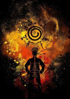 Poster métal de Naruto en version collector pour votre décoration mural ! Dispo sur Artwall and Co