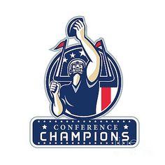 Football Conference Champions New England Retro by Aloysius Patrimonio