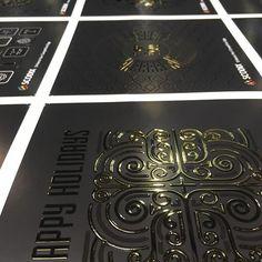 A printer's dream.  #Scodified #scodix #scodixultra #texture #printing #digitalprinting #digitalspotuv #emboss #graphicdesign #posterdesign #brochures #marketing #packaging Spot Uv, Print Finishes, Print Ideas, Business Cards, Digital Prints, Printer, Graphic Design, Texture, Photo And Video