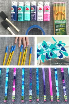 DIY School Supplies for Middle Schoolers, DIY School Supplies for Teens, DIY School Supplies for Kids. These DIY marbled pencils are an easy back to school craft for kids and Back To School Crafts For Kids, Diy Back To School Supplies, Diy Crafts For Teens, Craft Projects For Kids, Diy Crafts For Kids, Diy Supplies, Back To School For Teens, Kawaii School Supplies Diy, Back To School Diy Organization