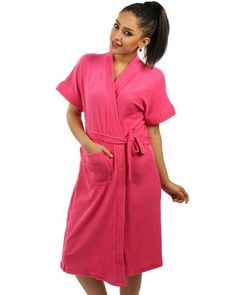 5a77a97712 Ladies Bathrobe Soft Cotton - Hot Pink Turkish Cotton Towels