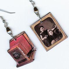 Camera Earrings Vintage Bellows cameras