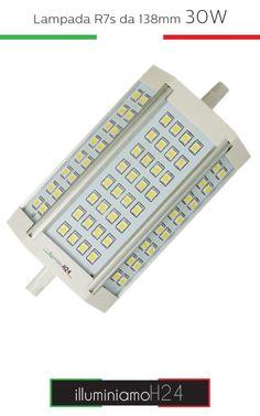 Lampada R7s 138mm 30W - 6000°K
