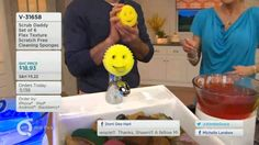 Scrub Daddy from Shark Tank on QVC . Third Appearance. Genius cleaning tool! NO chemicals, scratch-free, cleans anything and switches from hard to soft easily. The smiley design serves a purpose. Sponge easily cleans itself, too!