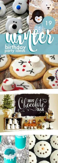 19 Winter Birthday Party Ideas - 19 Winter Themed Party Ideas From Spaceships And Laser Beams, Pin Today! Winter Party Themes, Winter Birthday Parties, Baby Boy 1st Birthday Party, Winter Parties, Kids Party Themes, Birthday Party Themes, Party Ideas, Birthday Ideas, Birthday Recipes