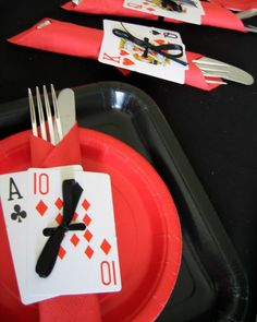 Share the love...910,6916412The winter months are a perfect time to host a Casino Party. Here are couple of DIY ideas to add to your fun theme party! This project doesn't cost more than a couple of dollars – a deck of dollar store cards and some black ribbon. Card Shark Napkin Rings Supplies Deck of Read More...